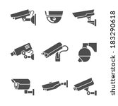 video surveillance security... | Shutterstock .eps vector #183290618