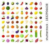flat design fresh raw fruits... | Shutterstock .eps vector #1832906638