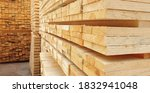 Raw Wood Drying In The Lumber...