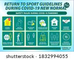the sport guidelines safety... | Shutterstock .eps vector #1832994055