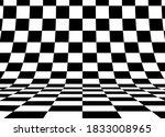 perspective checkered square... | Shutterstock .eps vector #1833008965