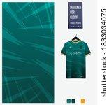fabric pattern design. geometry ... | Shutterstock .eps vector #1833034075