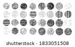 large collection of doodles.... | Shutterstock .eps vector #1833051508