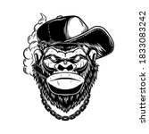 Illustration Of Gorilla With...