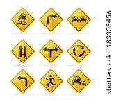 vector yellow road traffic... | Shutterstock .eps vector #183308456