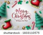 merry christmas vector... | Shutterstock .eps vector #1833110575
