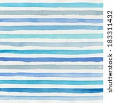 watercolor striped background | Shutterstock . vector #183311432