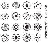 flowers vector set  eps10  | Shutterstock .eps vector #183312785