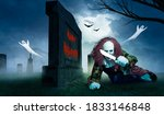 A Halloween Clown In Front Of A ...