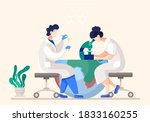 scientists in lab. people in...   Shutterstock .eps vector #1833160255