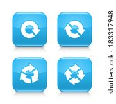 4 arrow blue glossy icon....