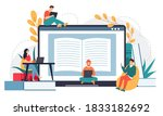 online business school.... | Shutterstock .eps vector #1833182692
