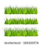 collection grass | Shutterstock .eps vector #183320576
