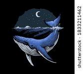 blue whale ocean vector... | Shutterstock .eps vector #1833211462