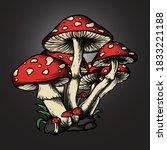 artwork illustration and t... | Shutterstock .eps vector #1833221188