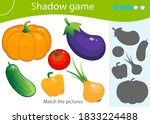 shadow game for kids. match the ... | Shutterstock .eps vector #1833224488