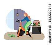 sport and fitness activities....   Shutterstock .eps vector #1833237148