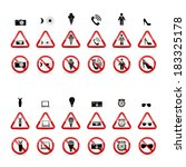 set of prohibition signs.... | Shutterstock .eps vector #183325178
