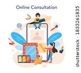 visagiste online service or... | Shutterstock .eps vector #1833261835