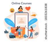 video blogger online service or ... | Shutterstock .eps vector #1833261838