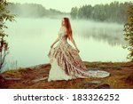 Luxury Woman In A Forest In A...