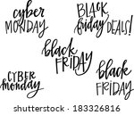 black friday and cyber monday... | Shutterstock .eps vector #183326816