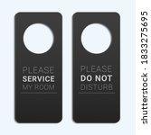 hotel room door hanger. do not... | Shutterstock .eps vector #1833275695