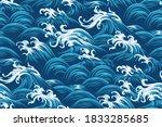oriental sea seamless... | Shutterstock .eps vector #1833285685