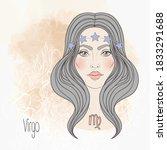 Zodiac  Illustration Of Virgo...