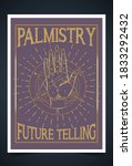 palmistry  palm reading ... | Shutterstock .eps vector #1833292432