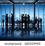 business people working in... | Shutterstock . vector #183329945