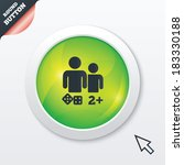 board games sign icon. two plus ...