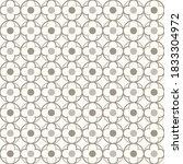 tangled modern pattern  based... | Shutterstock .eps vector #1833304972