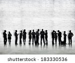 silhouette of business people... | Shutterstock . vector #183330536