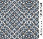 tangled modern pattern  based... | Shutterstock .eps vector #1833305578