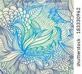 vector abstract floral digital... | Shutterstock .eps vector #183330962