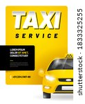 vector layout with taxi car....   Shutterstock .eps vector #1833325255