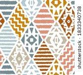ethnic tribal argyle seamless...   Shutterstock .eps vector #1833340738