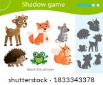 Shadow Game For Kids. Match Th...