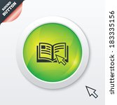 instruction sign icon. manual...