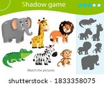 shadow game for kids. match the ... | Shutterstock .eps vector #1833358075