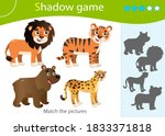 shadow game for kids. match the ... | Shutterstock .eps vector #1833371818