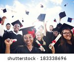 diverse international students... | Shutterstock . vector #183338696