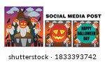 social media post halloween... | Shutterstock .eps vector #1833393742