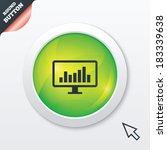 computer monitor sign icon....