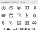 set of no ads vector line icons.... | Shutterstock .eps vector #1833454168