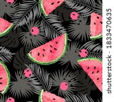 tropical vector pattern with... | Shutterstock .eps vector #1833470635