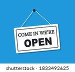 come in we're open signboard.... | Shutterstock .eps vector #1833492625