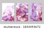 violet and gold marble abstract ... | Shutterstock .eps vector #1833493672