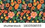 folk floral seamless pattern.... | Shutterstock .eps vector #1833508555